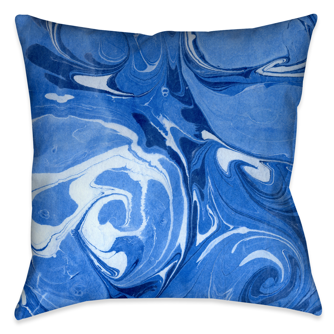 Ocean Blue II Marble Outdoor Decorative Pillow
