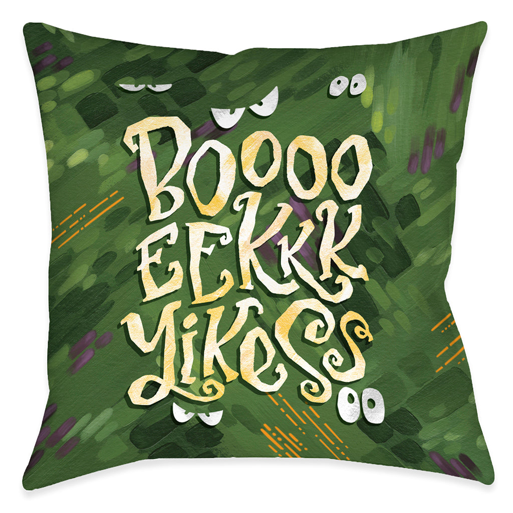 Boo Eek Yikes Indoor Decoritive Pillow
