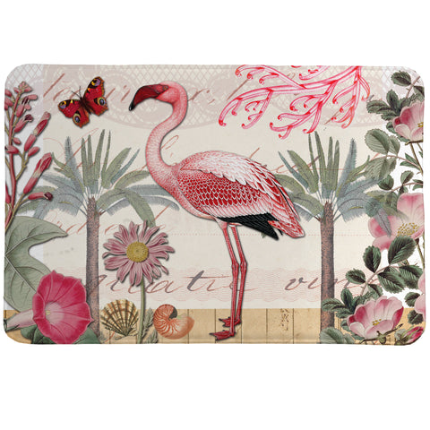 Botanical Flamingo Memory Foam Rug