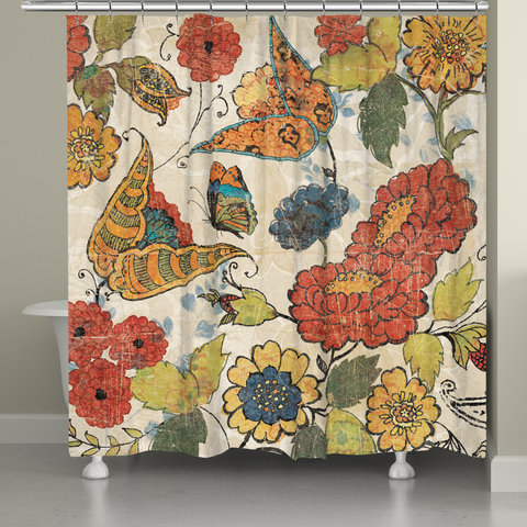 Heirloom Floral Shower Curtain