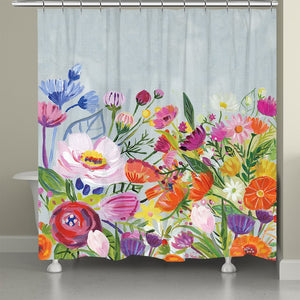 Bright Blossoming Florals Shower Curtain