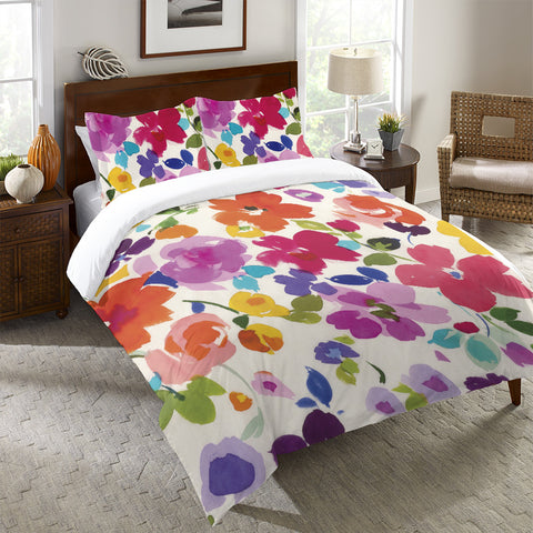 Bright Florals Duvet Cover