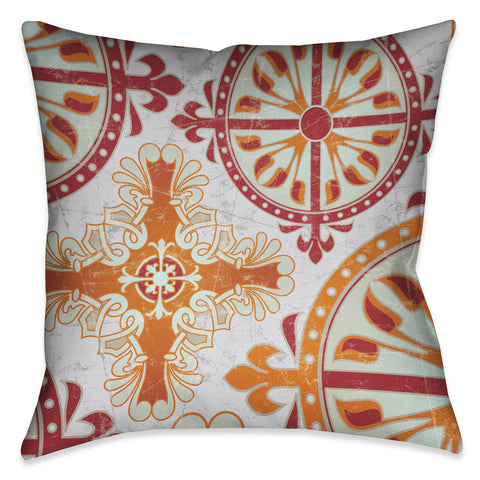 Medieval Persimmon II Outdoor Decorative Pillow