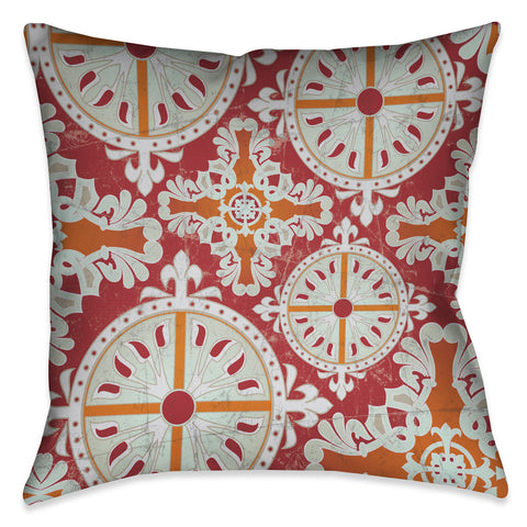 Medieval Persimmon I Outdoor Decorative Pillow