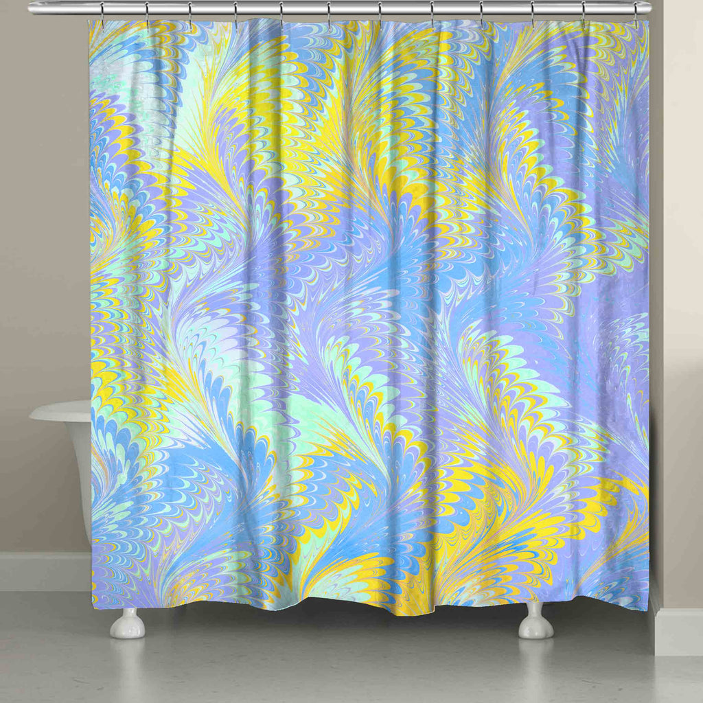Bright Lavender Yellow Shower Curtain – Laural Home