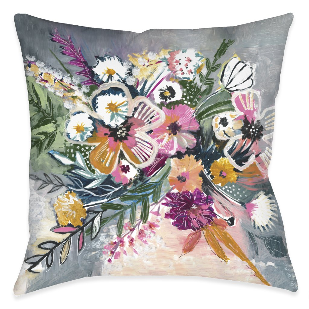 Brilliant Bouquet Outdoor Decorative Pillow