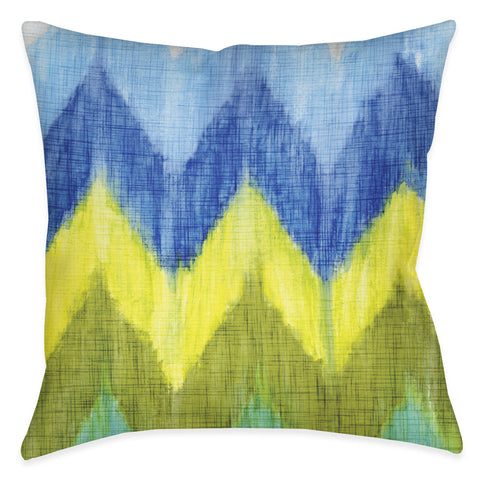Brilliant Chevron Outdoor Decorative Pillow