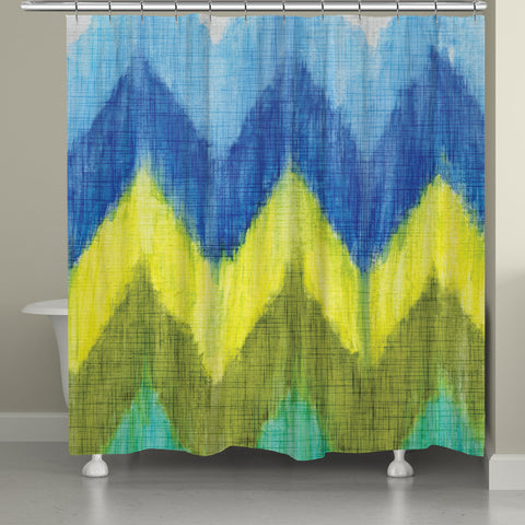 Brilliant Chevron Shower Curtain