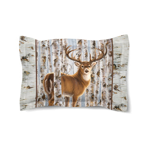 Buck in Birches Comforter Sham