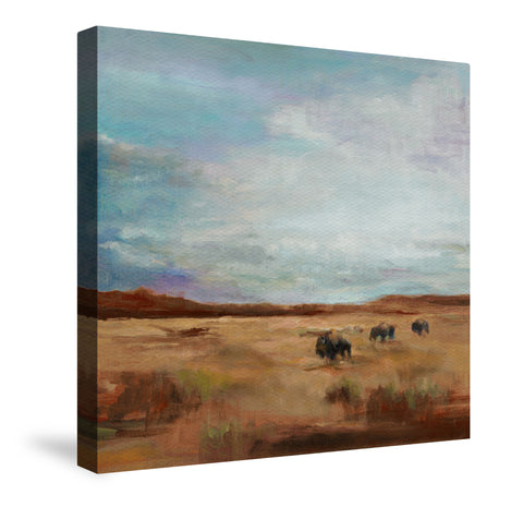 Buffalo Under Big Sky Canvas Wall Art