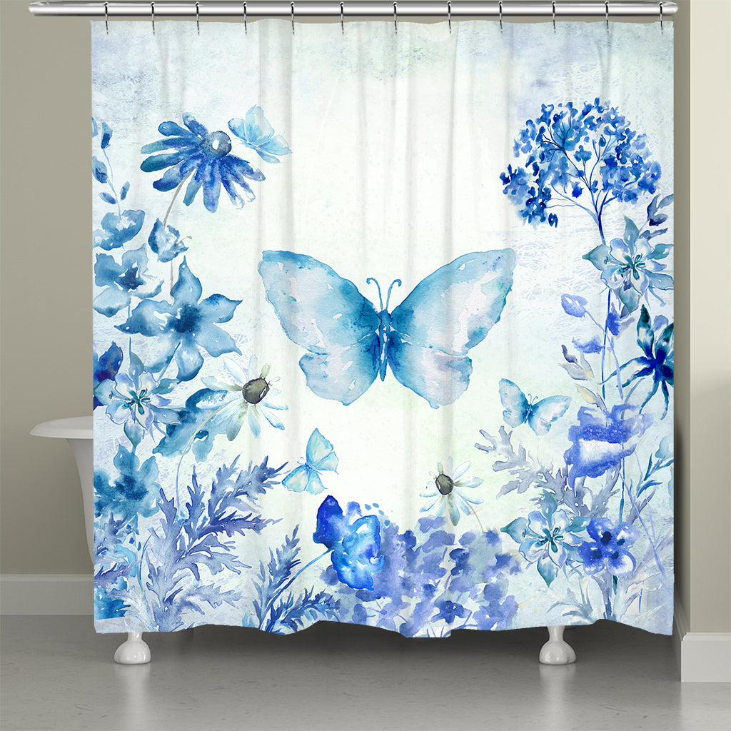 Botanical Butterfly Shower Curtain