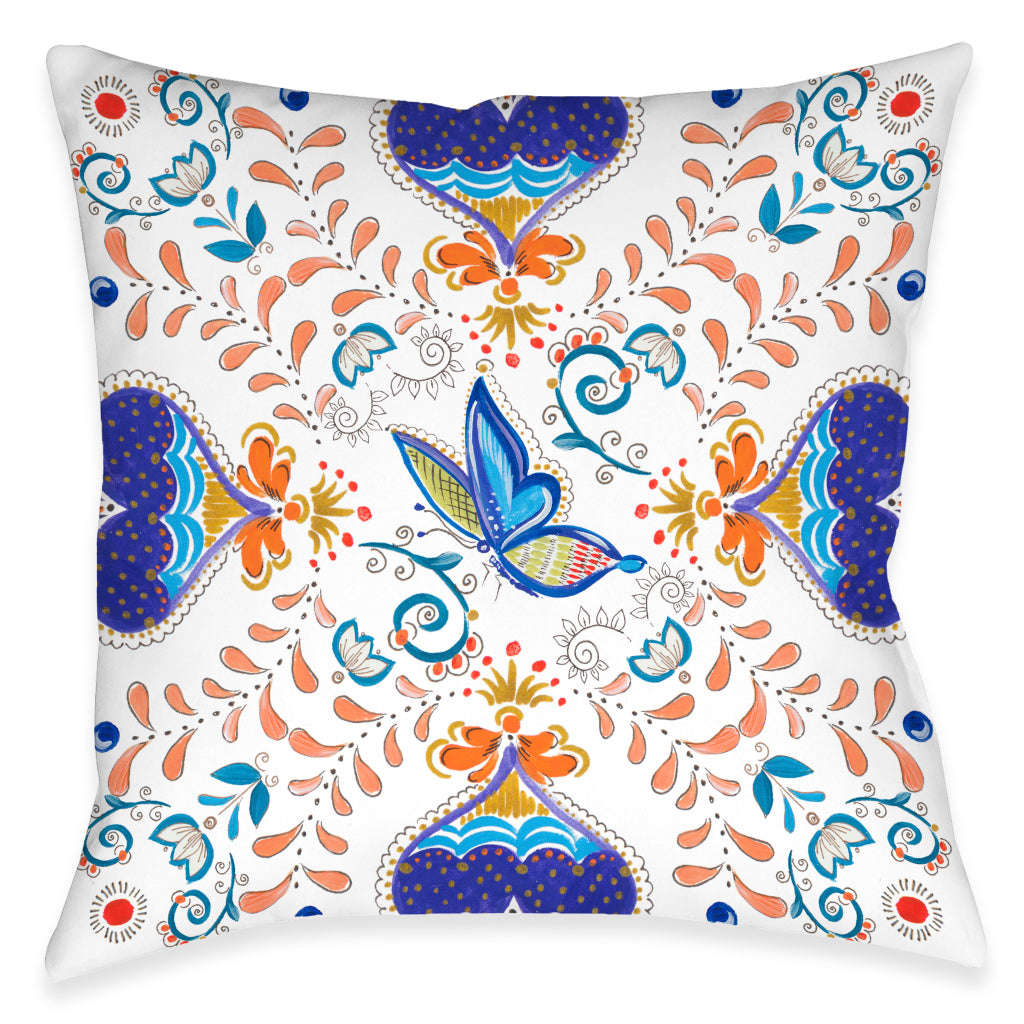 Whimsical Butterfly Outdoor Decorative Pillow