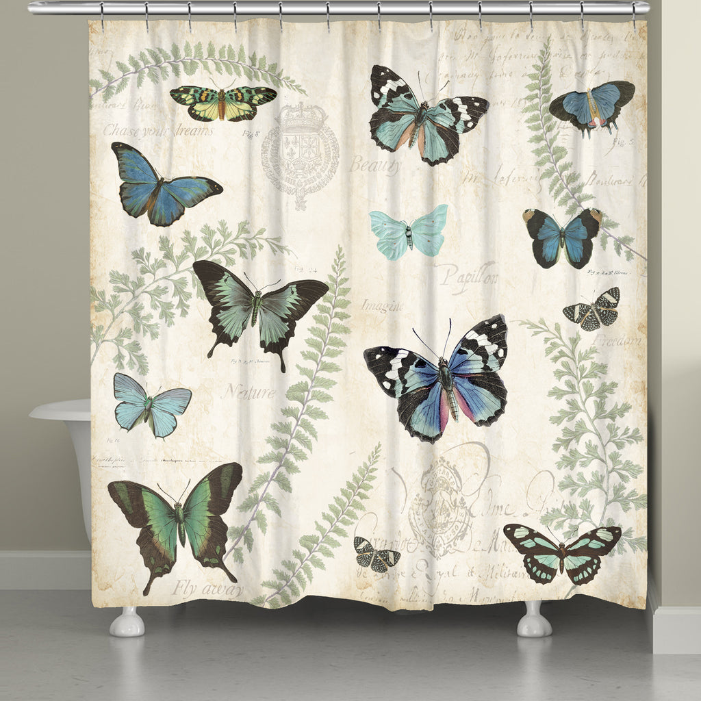 Butterfly Naturelle Shower Curtain