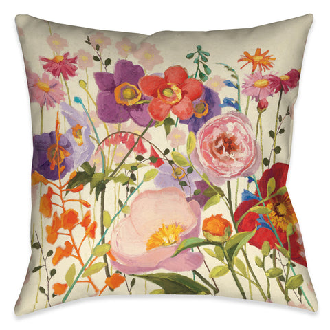 Blossoming Printemps II Indoor Decorative Pillow