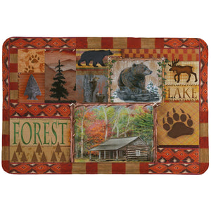 Cabin Collage Memory Foam Rug