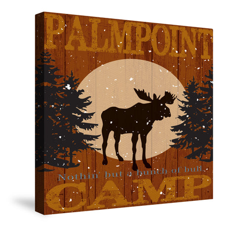 Cabin Camp Lodge Inn IV Canvas Wall Art