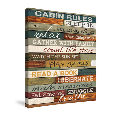 Cabin Rules Canvas Wall Art