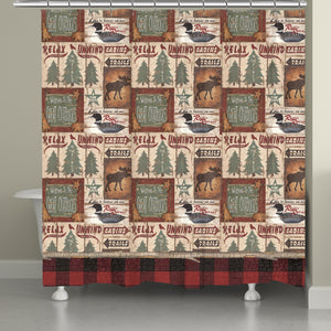 Cabin Trails Shower Curtain