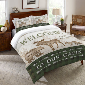 Cabin Welcome Comforter