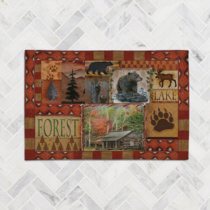 Cabin Collage Accent Rug