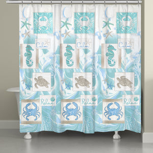 Calm and Relax Coastal Shower Curtain