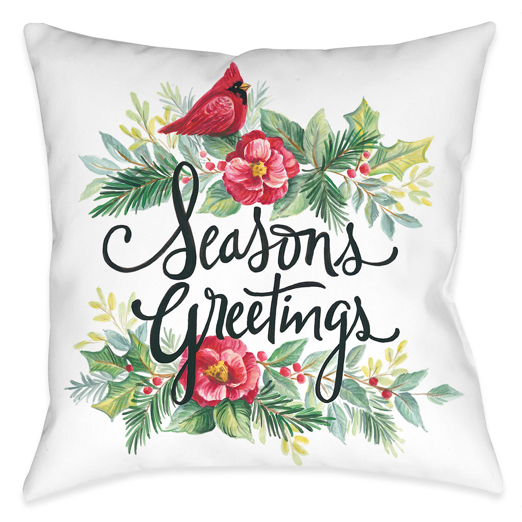 Cardinal Greetings Indoor Decorative Pillow