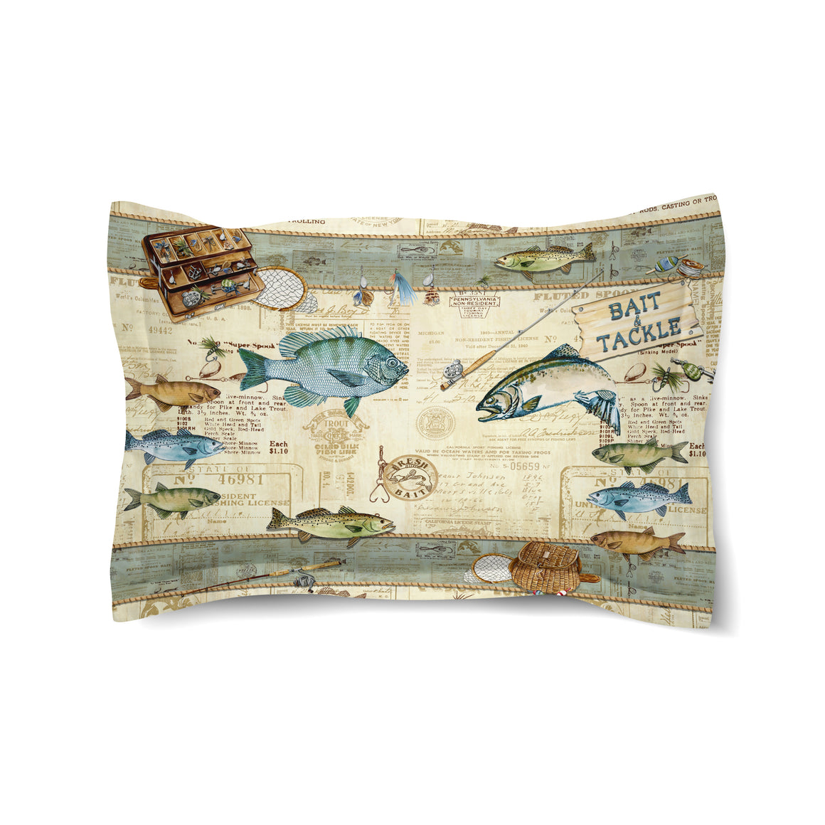 Catch of the Day Comforter Sham