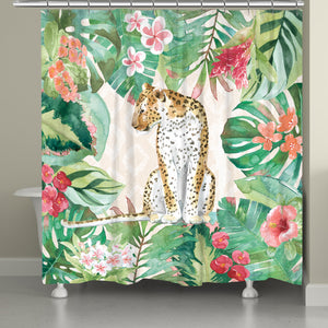 Cheetah in the Jungle Shower Curtain