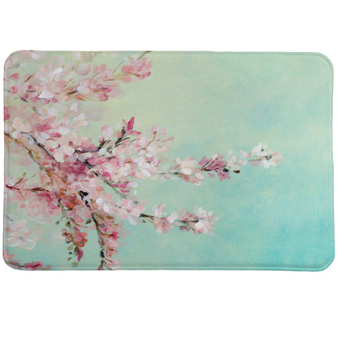 Cherry Blossoms Memory Foam Rug