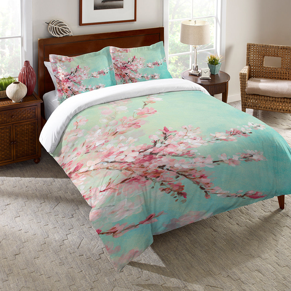 Relatively Cherry Blossoms Duvet Cover – Laural Home EK67
