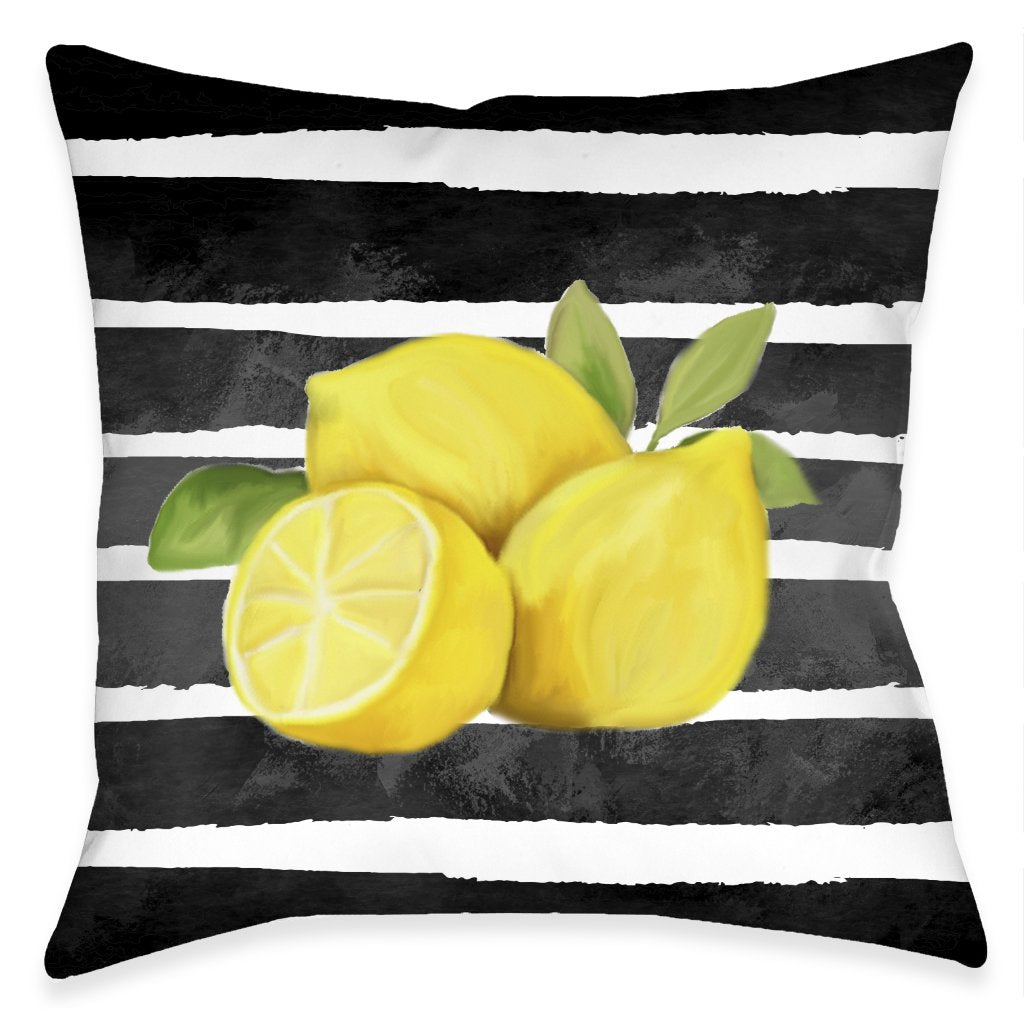 Chic Lemons Outdoor Decorative Pillow