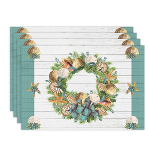 Christmas By The Sea Placemats