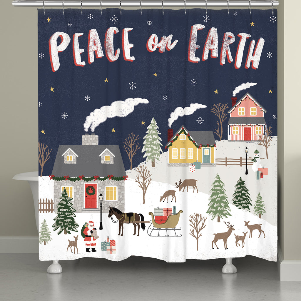 Christmas Village Shower Curtain