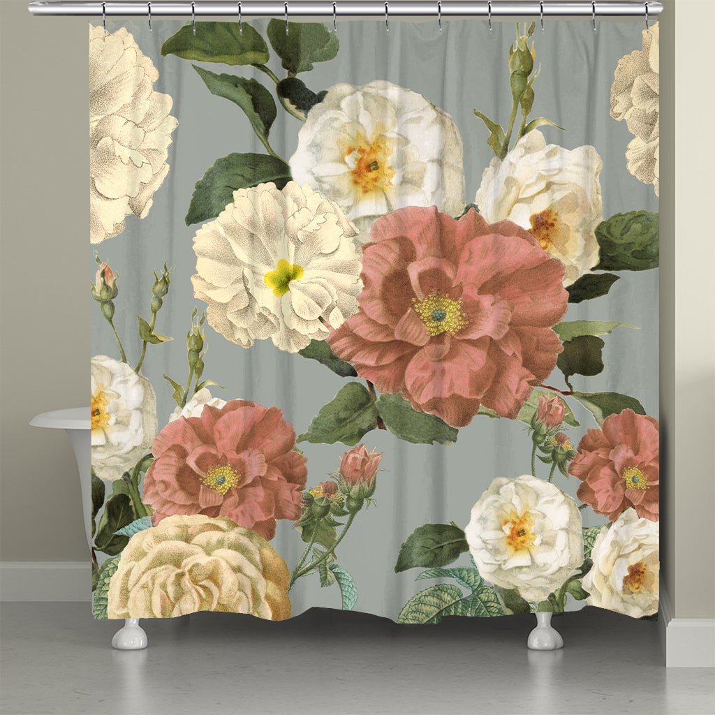 Claire Floral Shower Curtain