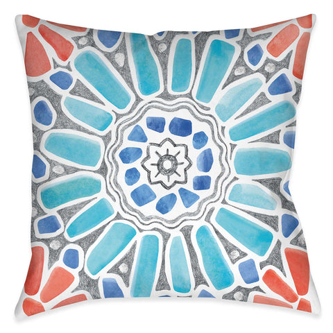 Coastal Mosaic II Outdoor Decorative Pillow