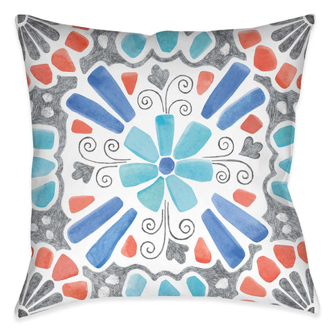 Coastal Mosaic III Outdoor Decorative Pillow