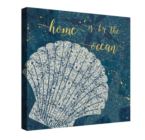 Coastal Lace II Canvas Wall Art