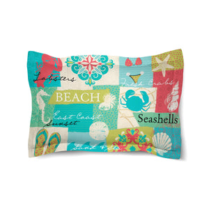 Coastal Party Duvet Sham