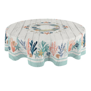 Coastal Reef Round Tablecloth