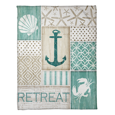Coastal Retreat Fleece Throw