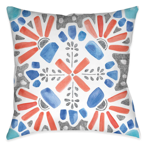 Coastal Mosaic I Indoor Decorative Pillow