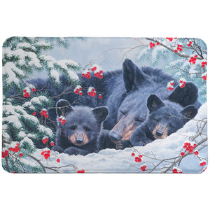 Cold Cozy Bears Memory Foam Rug