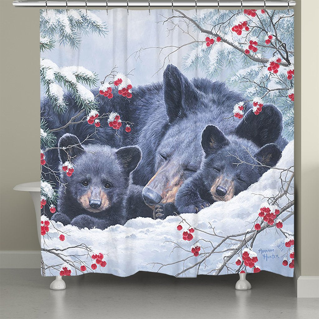 Cold Cozy Bears Shower Curtain