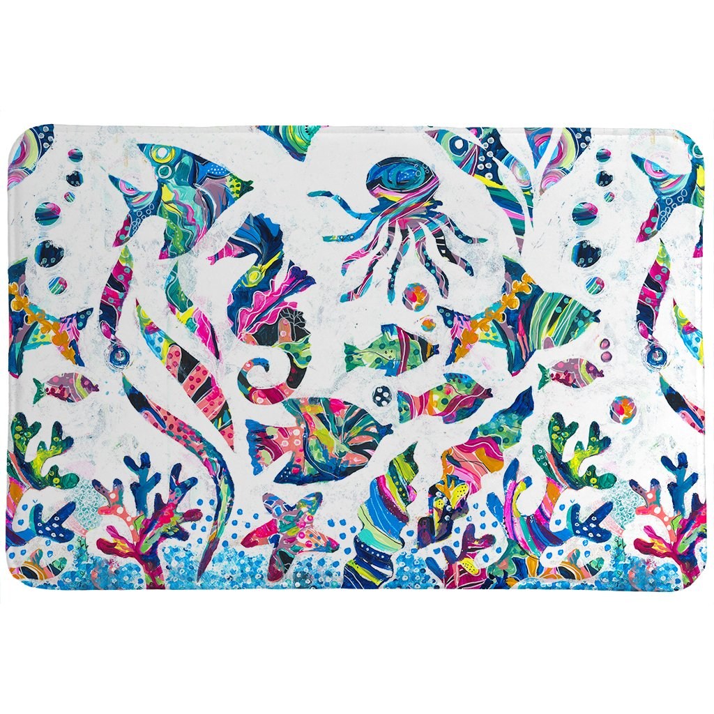 Colorful Coastal Memory Foam Rug