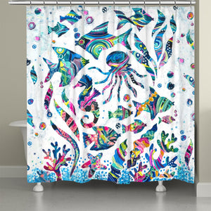 Colorful Coastal Shower Curtain
