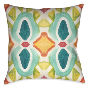 This abstract design evokes a unique artistic hand quality exposing beautiful colorful painterly design motif.