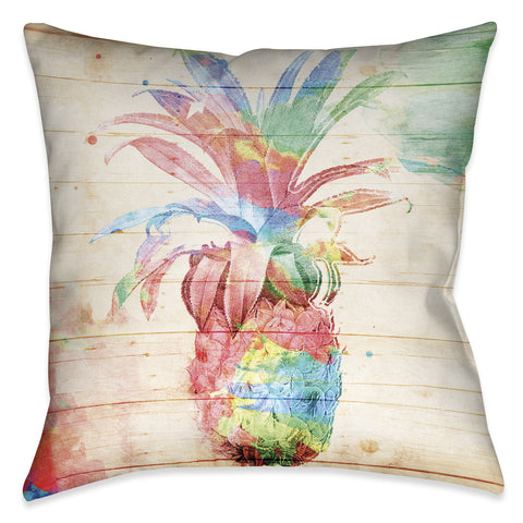 Colorful Pineapple Outdoor Decorative Pillow