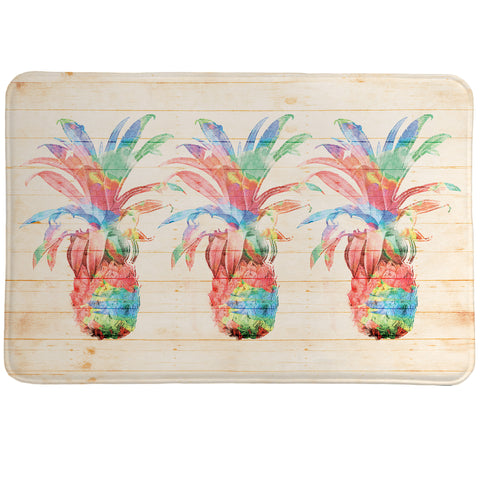 Colorful Pineapples Memory Foam Rug