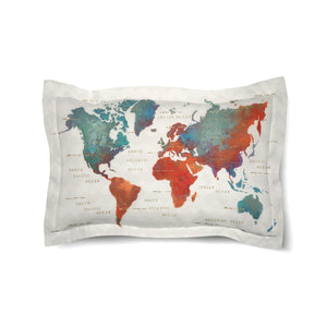 Colorful World Duvet Sham