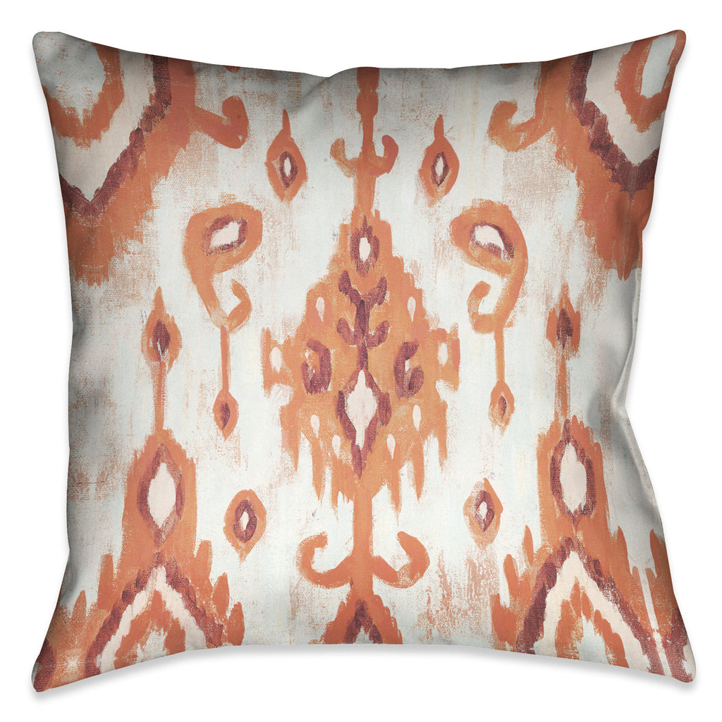 Coral Ikat II Indoor Decorative Pillow